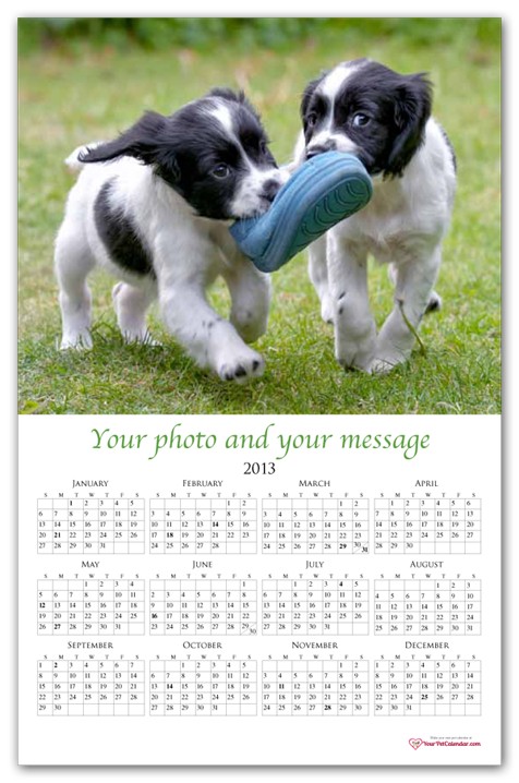 producttemplate name dog calendar without border